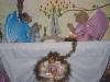 fa gesù bambino in cappella nel tempo natalizio
