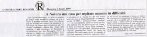 """""""L'OSSERVATORE ROMANO"""" 4-07-1999"""