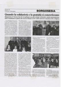 """""""CORRIERE VALSESIANO"""" 7 FEBBRAIO 2003"""